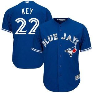 Jimmy Key Toronto Blue Jays Authentic Cool Base Alternate Majestic Jersey - Royal Blue