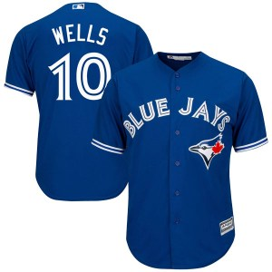 Vernon Wells Toronto Blue Jays Authentic Cool Base Alternate Majestic Jersey - Royal Blue