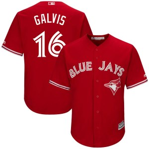 Freddy Galvis Toronto Blue Jays Youth Authentic Cool Base Alternate Majestic Jersey - Scarlet