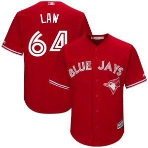 Derek Law Toronto Blue Jays Youth Authentic Cool Base Alternate Majestic Jersey - Scarlet