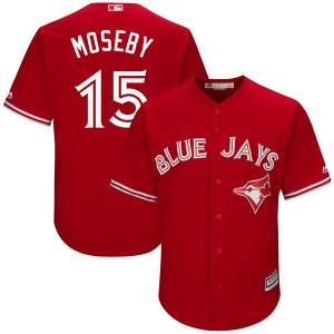 Lloyd Moseby Toronto Blue Jays Youth Authentic Cool Base Alternate Majestic Jersey - Scarlet