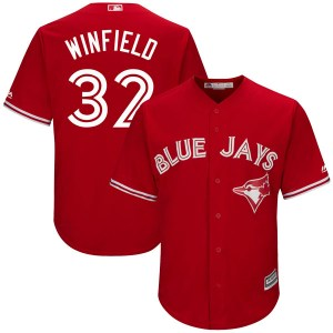 Dave Winfield Toronto Blue Jays Youth Authentic Cool Base Alternate Majestic Jersey - Scarlet