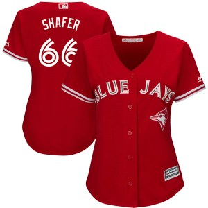 Justin Shafer Toronto Blue Jays Women's Authentic Cool Base Alternate Majestic Jersey - Scarlet