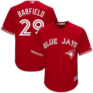 Jesse Barfield Toronto Blue Jays Replica Cool Base Alternate Majestic Jersey - Scarlet