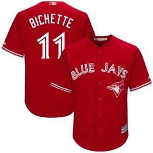 Bo Bichette Toronto Blue Jays Replica Cool Base Alternate Majestic Jersey - Scarlet
