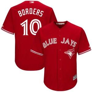 Pat Borders Toronto Blue Jays Replica Cool Base Alternate Majestic Jersey - Scarlet