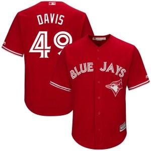 Jonathan Davis Toronto Blue Jays Replica Cool Base Alternate Majestic Jersey - Scarlet