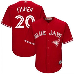 Derek Fisher Toronto Blue Jays Replica Cool Base Alternate Majestic Jersey - Scarlet