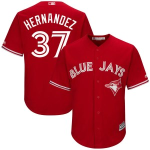 Teoscar Hernandez Toronto Blue Jays Replica Cool Base Alternate Majestic Jersey - Scarlet