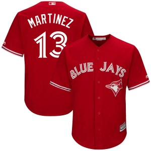 Buck Martinez Toronto Blue Jays Replica Cool Base Alternate Majestic Jersey - Scarlet