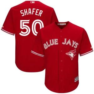 Justin Shafer Toronto Blue Jays Replica Cool Base Alternate Majestic Jersey - Scarlet