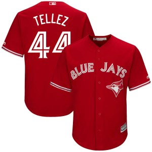 Rowdy Tellez Toronto Blue Jays Replica Cool Base Alternate Majestic Jersey - Scarlet