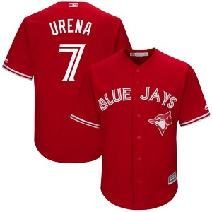 Richard Urena Toronto Blue Jays Replica Cool Base Alternate Majestic Jersey - Scarlet