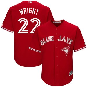 Brett Wright Toronto Blue Jays Replica Cool Base Alternate Majestic Jersey - Scarlet