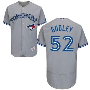 Zack Godley Toronto Blue Jays Youth Authentic Flex Base Road Collection Majestic Jersey - Gray