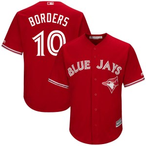 Pat Borders Toronto Blue Jays Authentic Cool Base Alternate Majestic Jersey - Scarlet