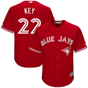 Jimmy Key Toronto Blue Jays Authentic Cool Base Alternate Majestic Jersey - Scarlet