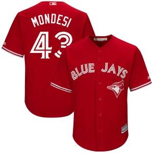Raul Mondesi Toronto Blue Jays Authentic Cool Base Alternate Majestic Jersey - Scarlet