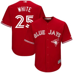 Devon White Toronto Blue Jays Authentic Cool Base Scarlet Alternate Majestic Jersey - White