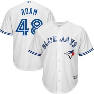 Jason Adam Toronto Blue Jays Youth Replica Cool Base Home Majestic Jersey - White