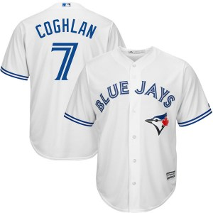 Chris Coghlan Toronto Blue Jays Youth Replica Cool Base Home Majestic Jersey - White