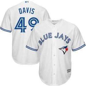 Jonathan Davis Toronto Blue Jays Youth Replica Cool Base Home Majestic Jersey - White