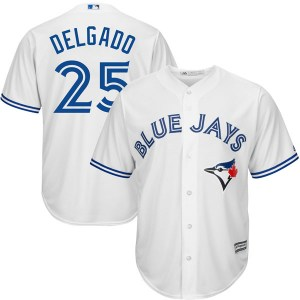 Carlos Delgado Toronto Blue Jays Youth Replica Cool Base Home Majestic Jersey - White