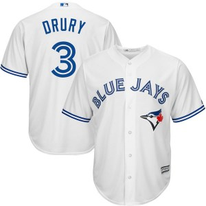 Brandon Drury Toronto Blue Jays Youth Replica Cool Base Home Majestic Jersey - White