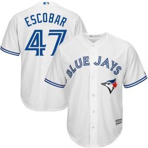 Kelvim Escobar Toronto Blue Jays Youth Replica Cool Base Home Majestic Jersey - White