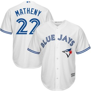 Mike Matheny Toronto Blue Jays Youth Replica Cool Base Home Majestic Jersey - White
