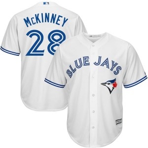 Billy McKinney Toronto Blue Jays Youth Replica Cool Base Home Majestic Jersey - White