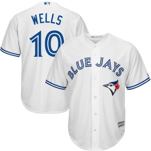 Vernon Wells Toronto Blue Jays Youth Replica Cool Base Home Majestic Jersey - White