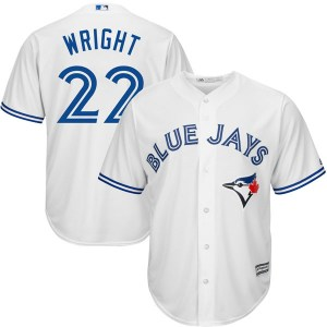 Brett Wright Toronto Blue Jays Youth Replica Cool Base Home Majestic Jersey - White