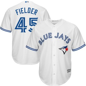 Cecil Fielder Toronto Blue Jays Replica Cool Base Home Majestic Jersey - White