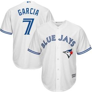 Damaso Garcia Toronto Blue Jays Replica Cool Base Home Majestic Jersey - White