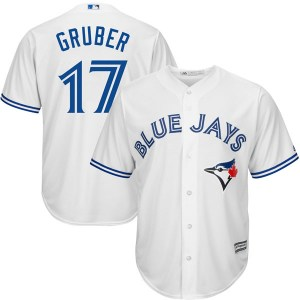 Kelly Gruber Toronto Blue Jays Replica Cool Base Home Majestic Jersey - White