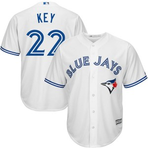Jimmy Key Toronto Blue Jays Replica Cool Base Home Majestic Jersey - White