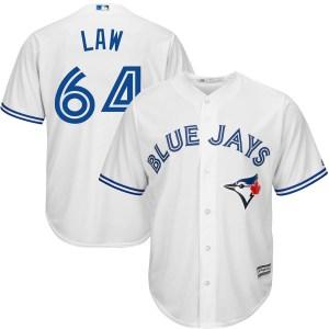 Derek Law Toronto Blue Jays Replica Cool Base Home Majestic Jersey - White
