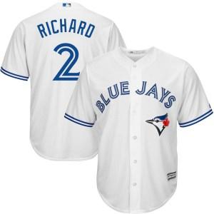 Clayton Richard Toronto Blue Jays Replica Cool Base Home Majestic Jersey - White