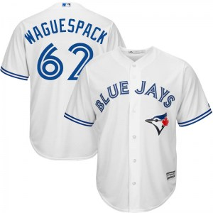 Jacob Waguespack Toronto Blue Jays Replica Cool Base Home Majestic Jersey - White