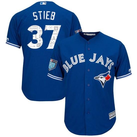 Dave Stieb Toronto Blue Jays Replica Cool Base 2018 Spring Training Majestic Jersey - Royal