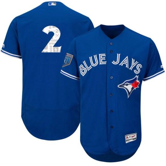 Troy Tulowitzki Toronto Blue Jays Authentic Flex Base 2018 Spring Training Majestic Jersey - Royal